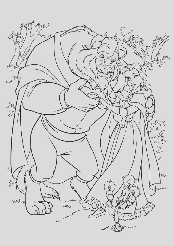 beauty and the beast coloring pages belle and the beast dancing