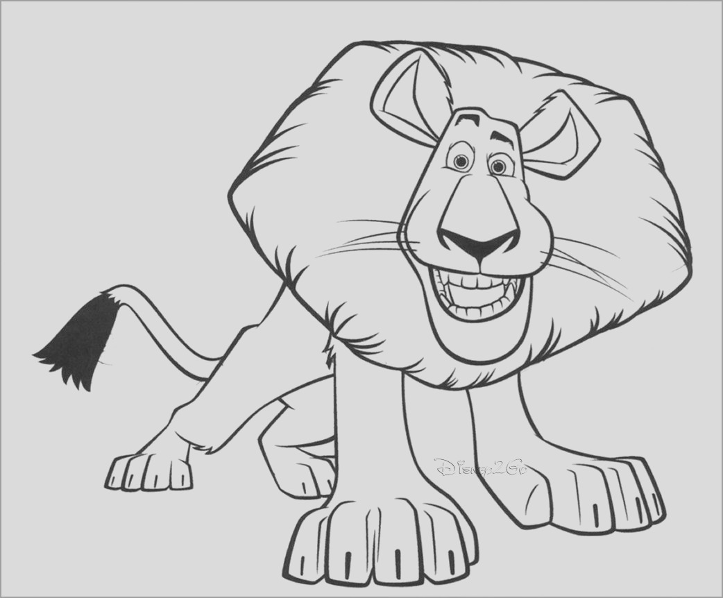 printable madagascar animals coloring page for adult