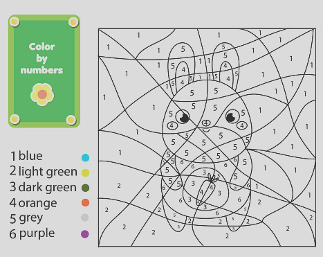 coloring page for kids color by numbers cute rabbit gm