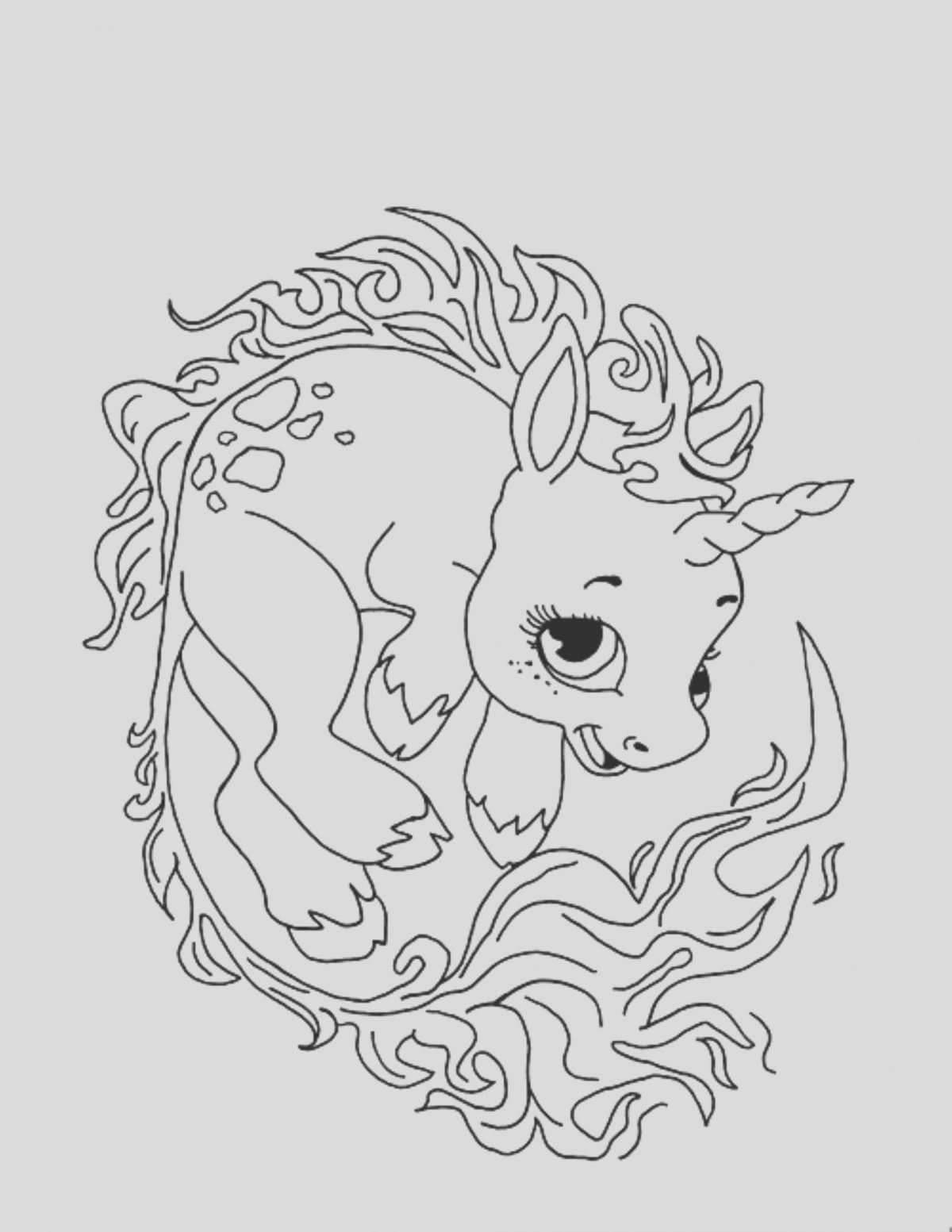 Coloring Page Cute Unicorn Inspirational Print & Download Unicorn Coloring Pages for Children