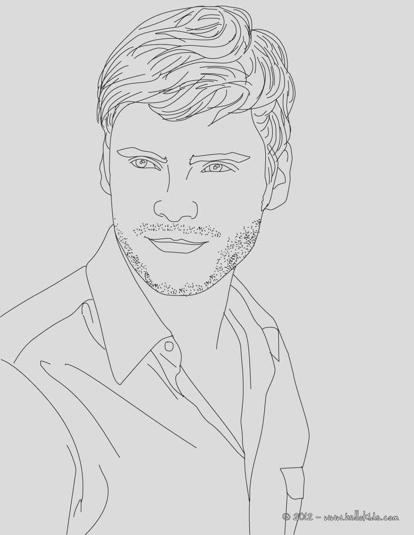 coloring pages of men