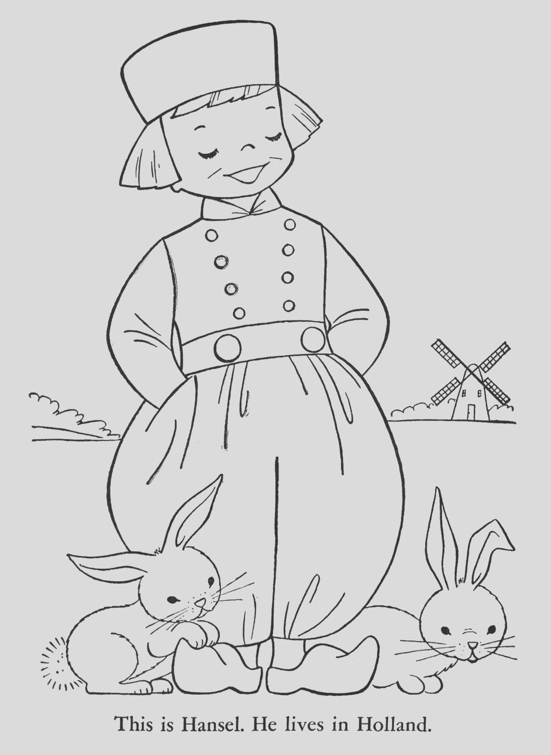 children of other lands coloring book 1954