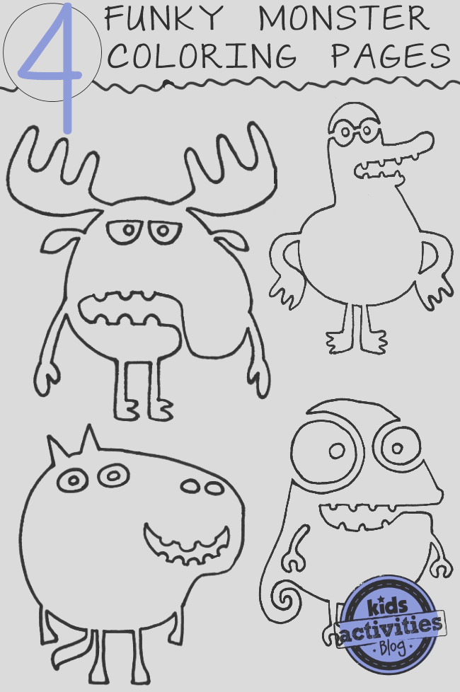 funky monster coloring pages