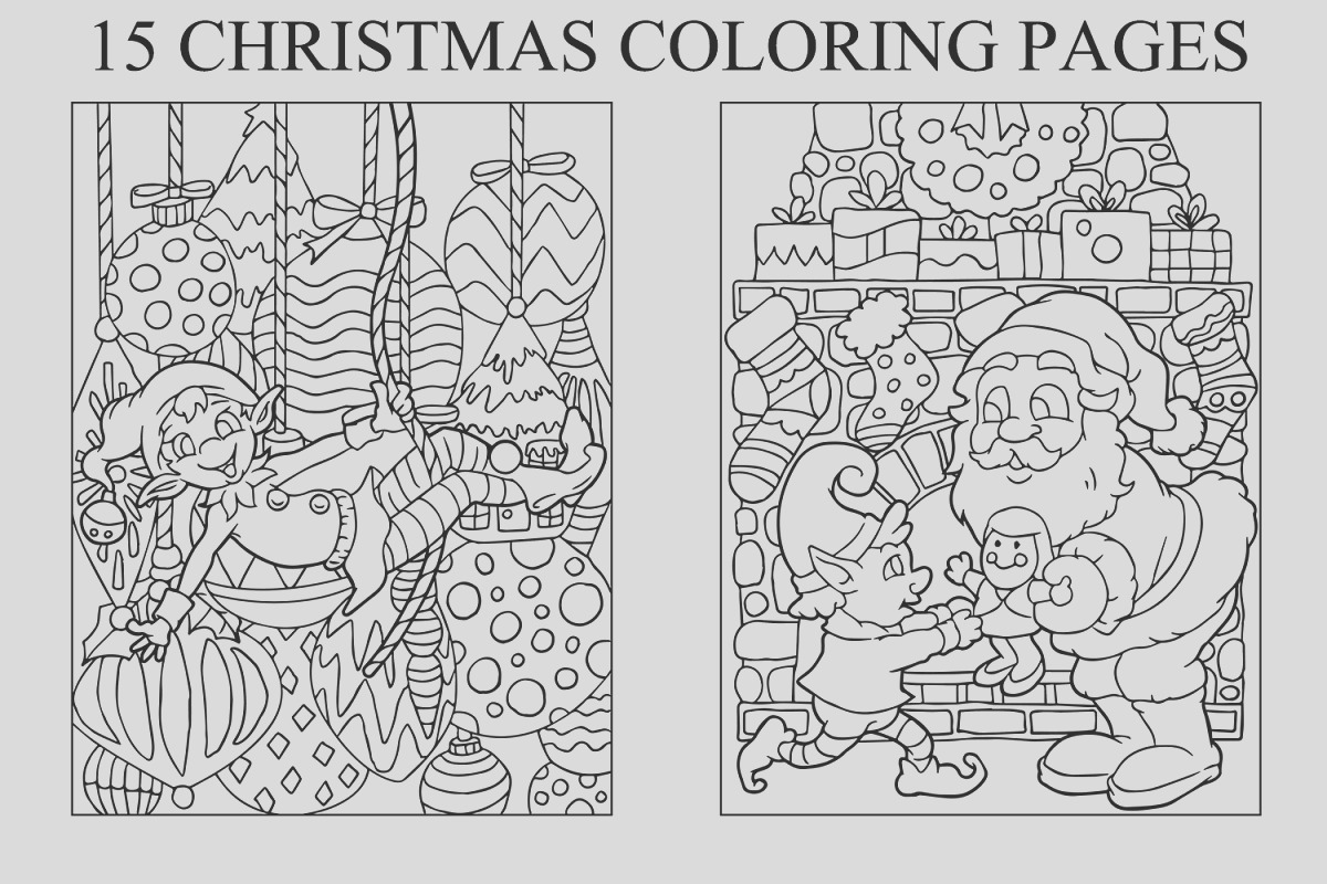 coloring pages for kids 15 christmas pages