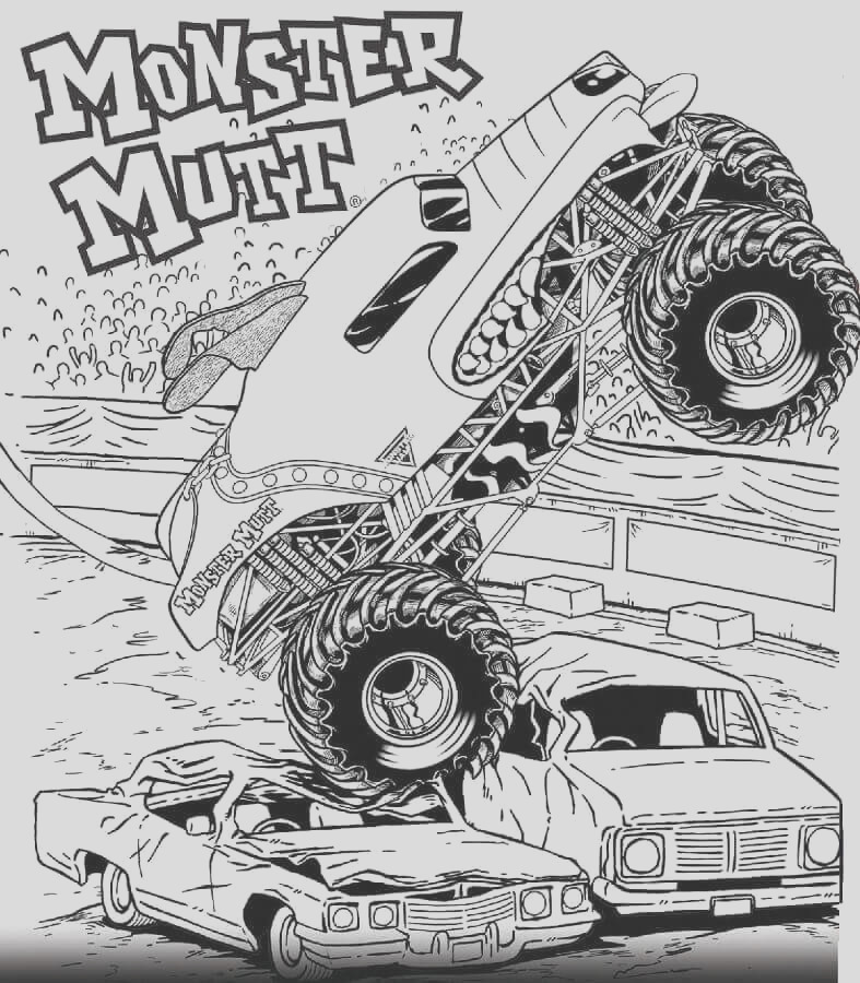 monster jam coloring pages