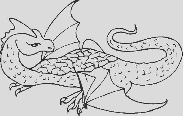 dragon dinosaur coloring page