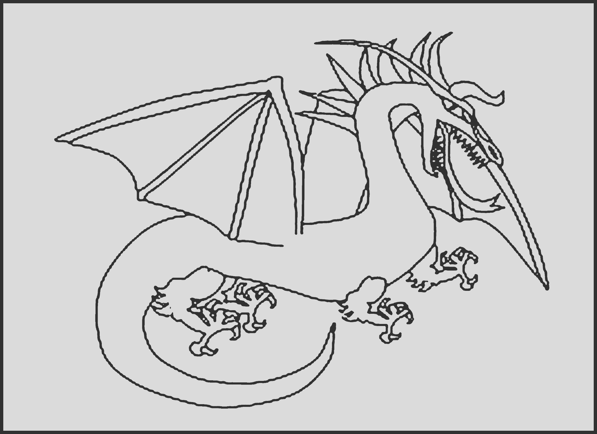 dragon coloring pages printable