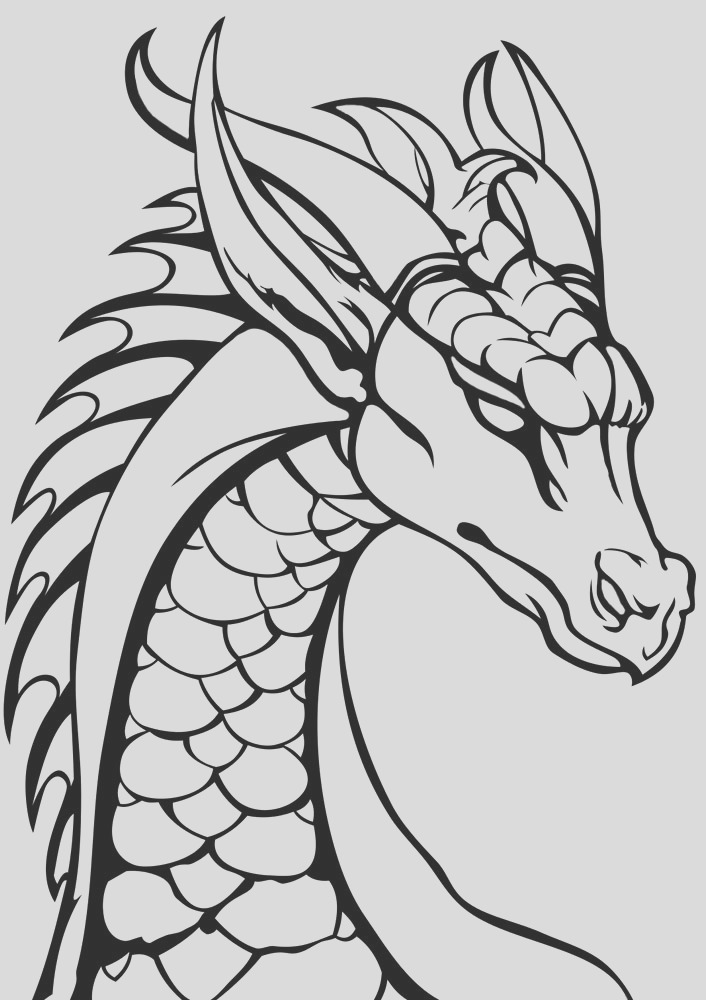 dragon head colouring