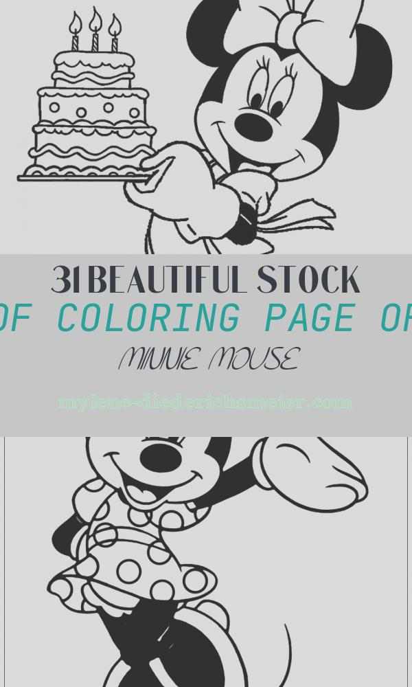 Coloring Page Of Minnie Mouse Elegant Printable Minnie Mouse Coloring Pages for Kids