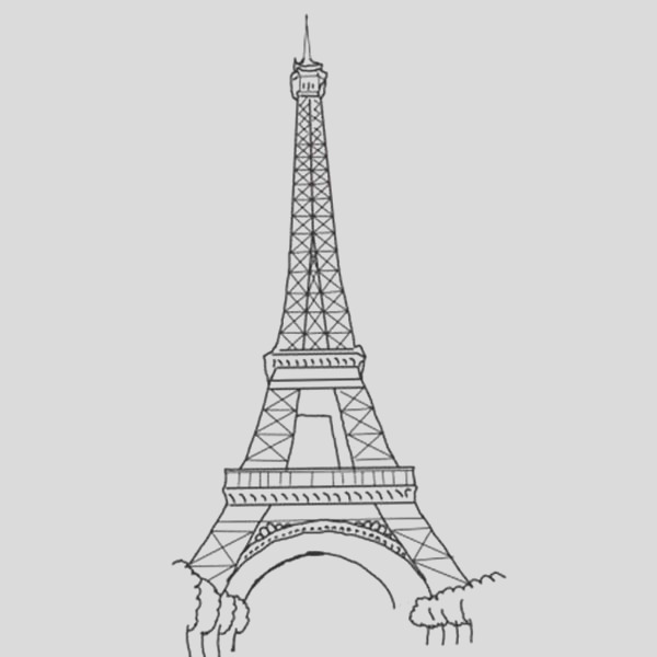 the amazing of eiffel tower coloring page