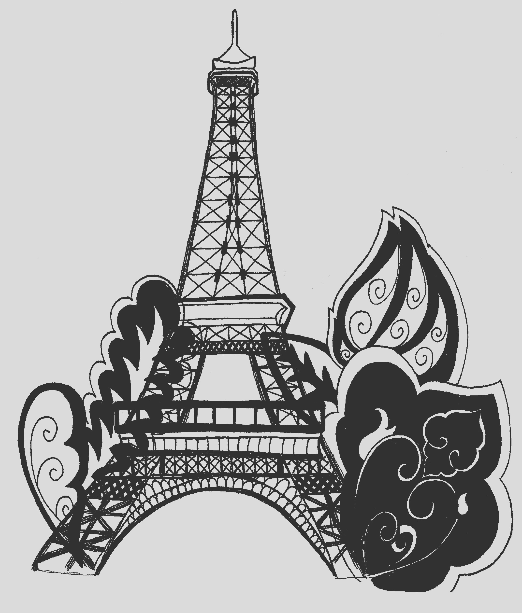 eiffel tower coloring pages
