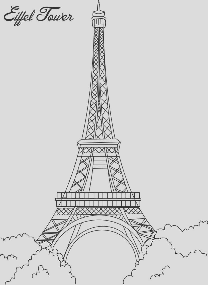 8527 eiffel tower coloring printable page for kids