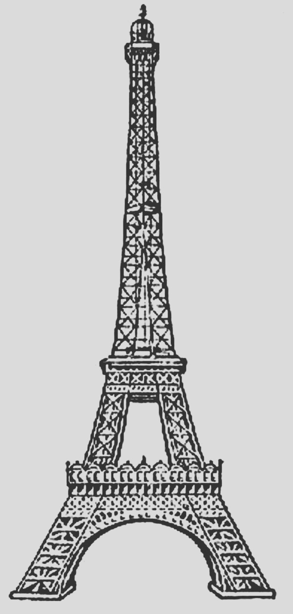 amazing eiffel tower coloring page