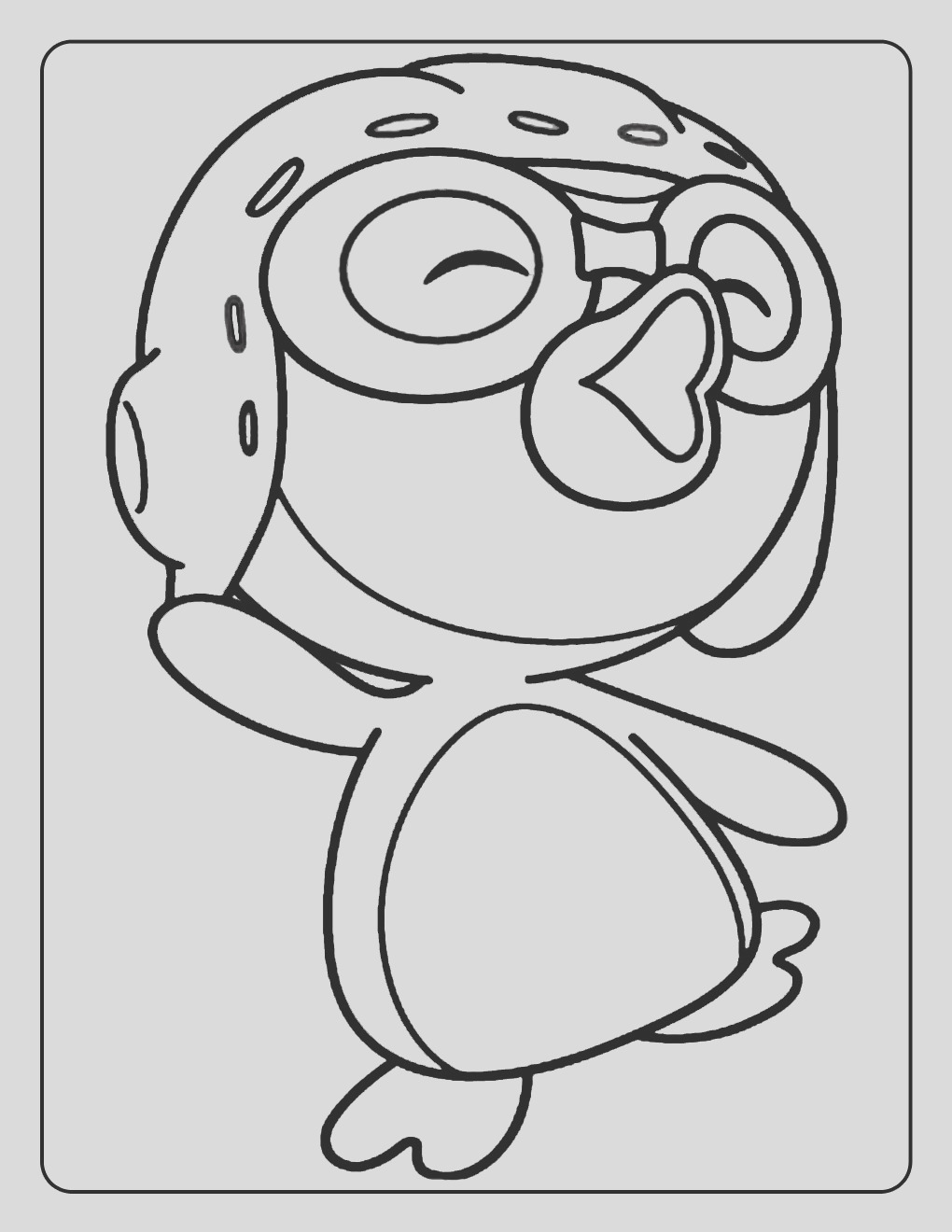 rororo little penguin coloring pages