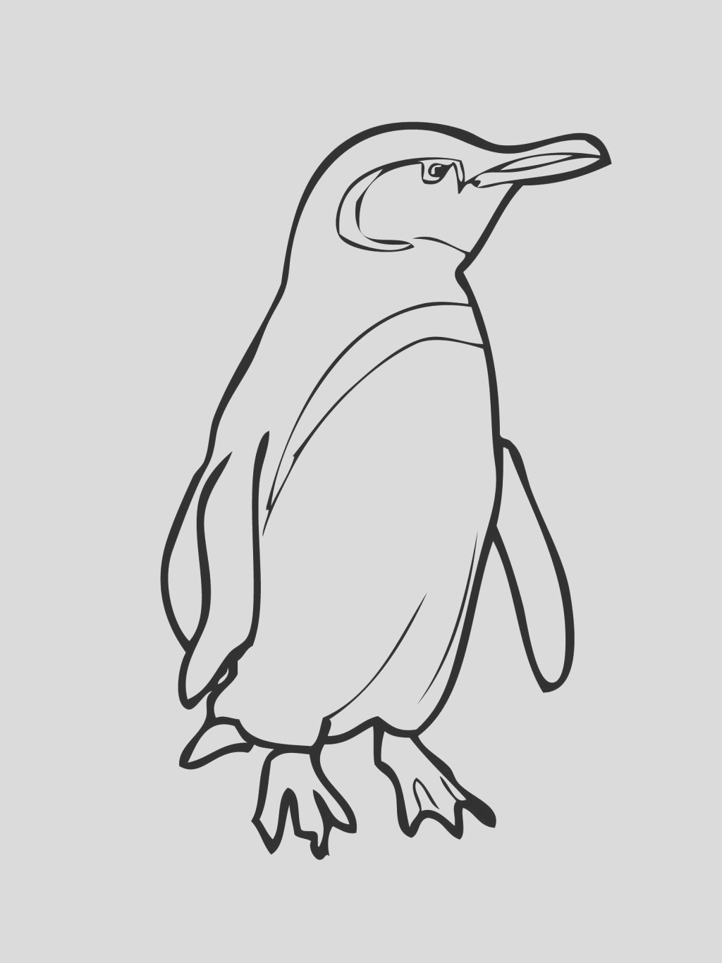 cartoon penguin coloring pages