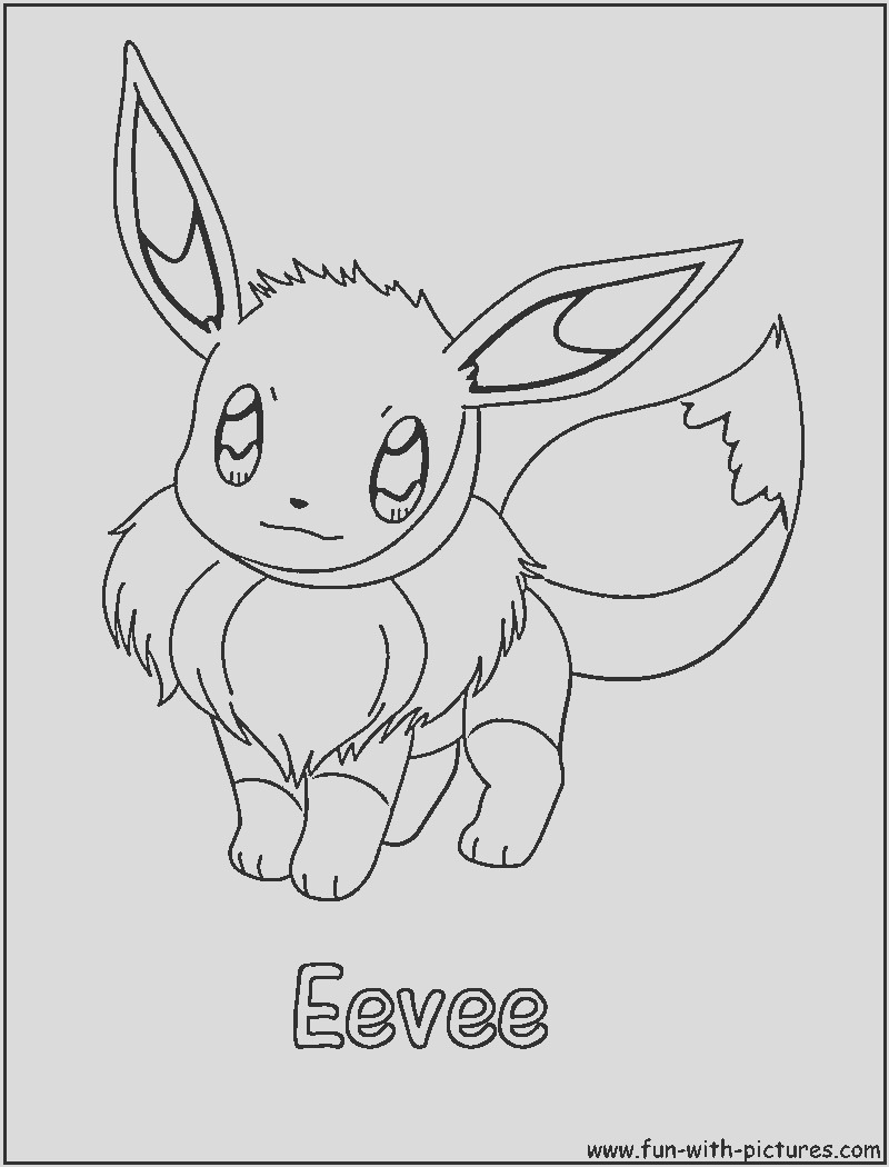 pokemon eeve coloring pages kids