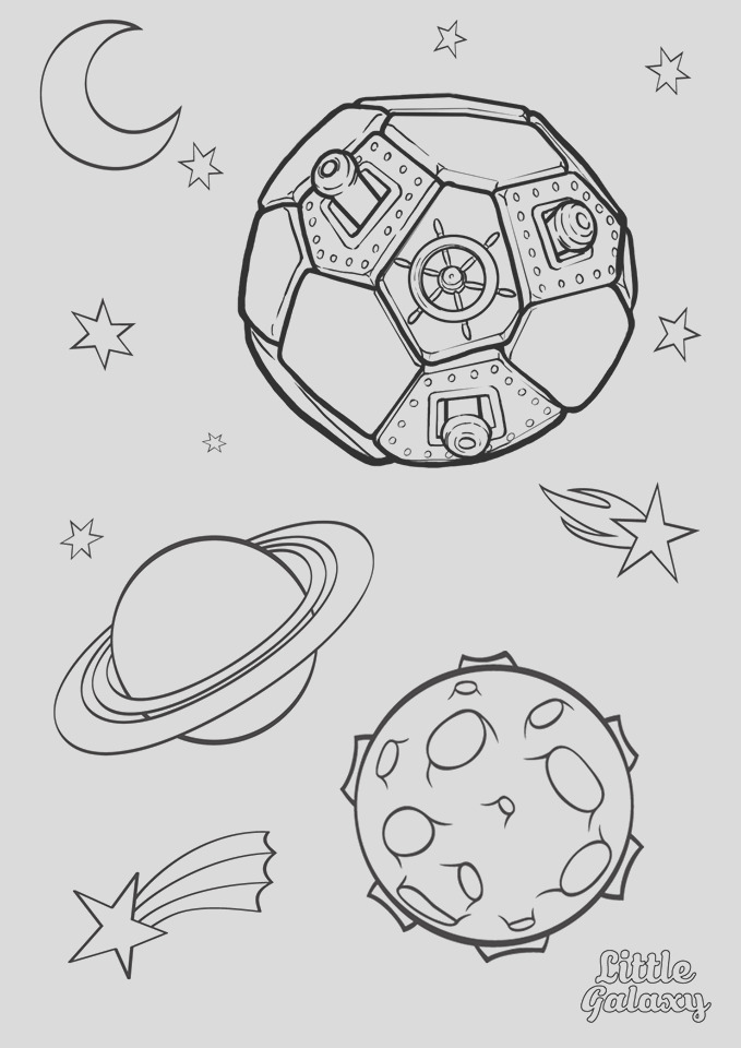 space colouring pages little galaxy