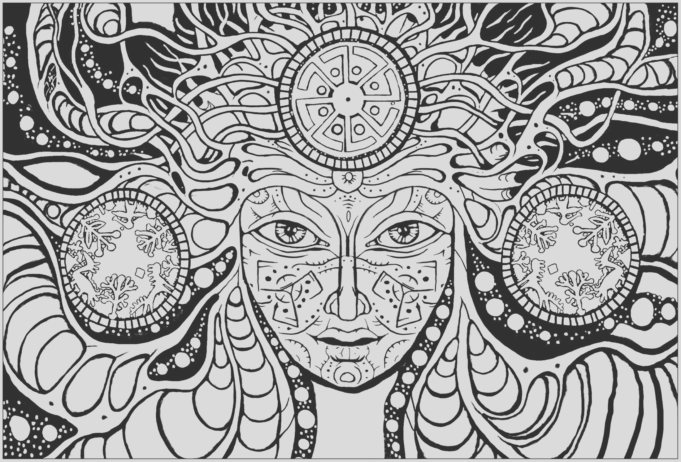 image=psychedelic coloring page psychedelic woman 1