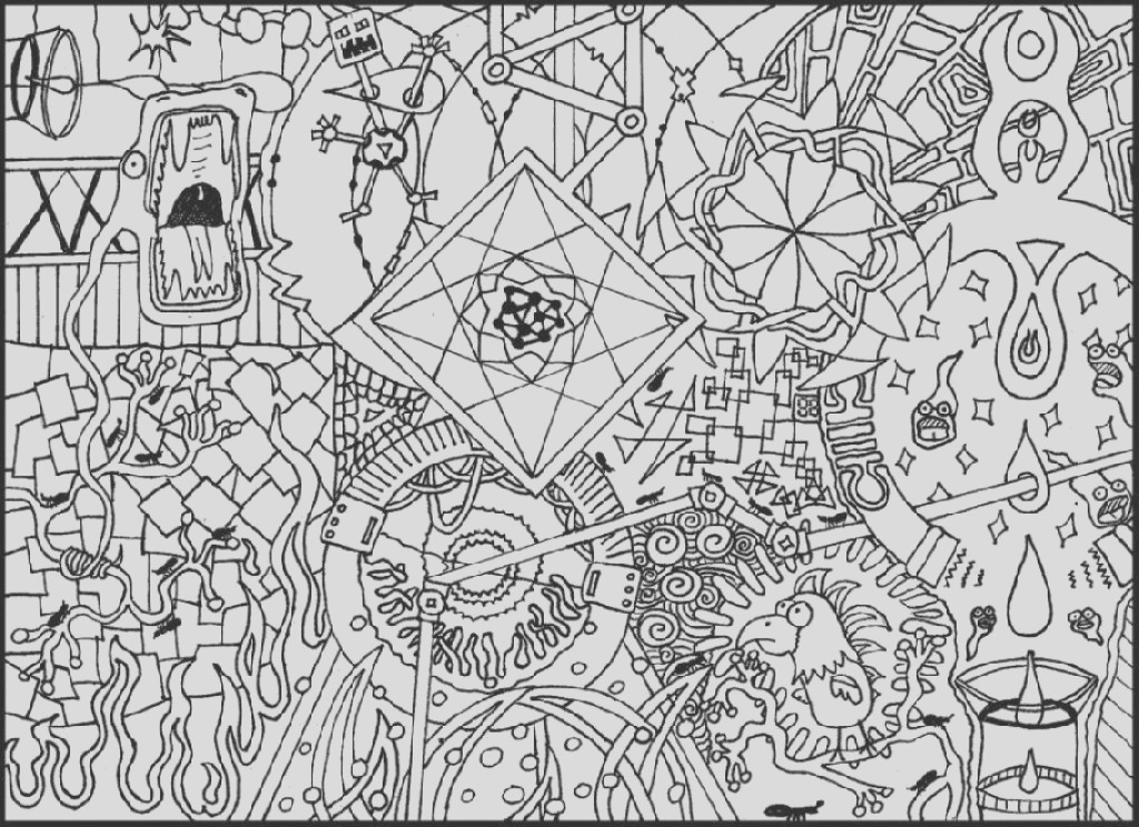 printable trippy coloring pages