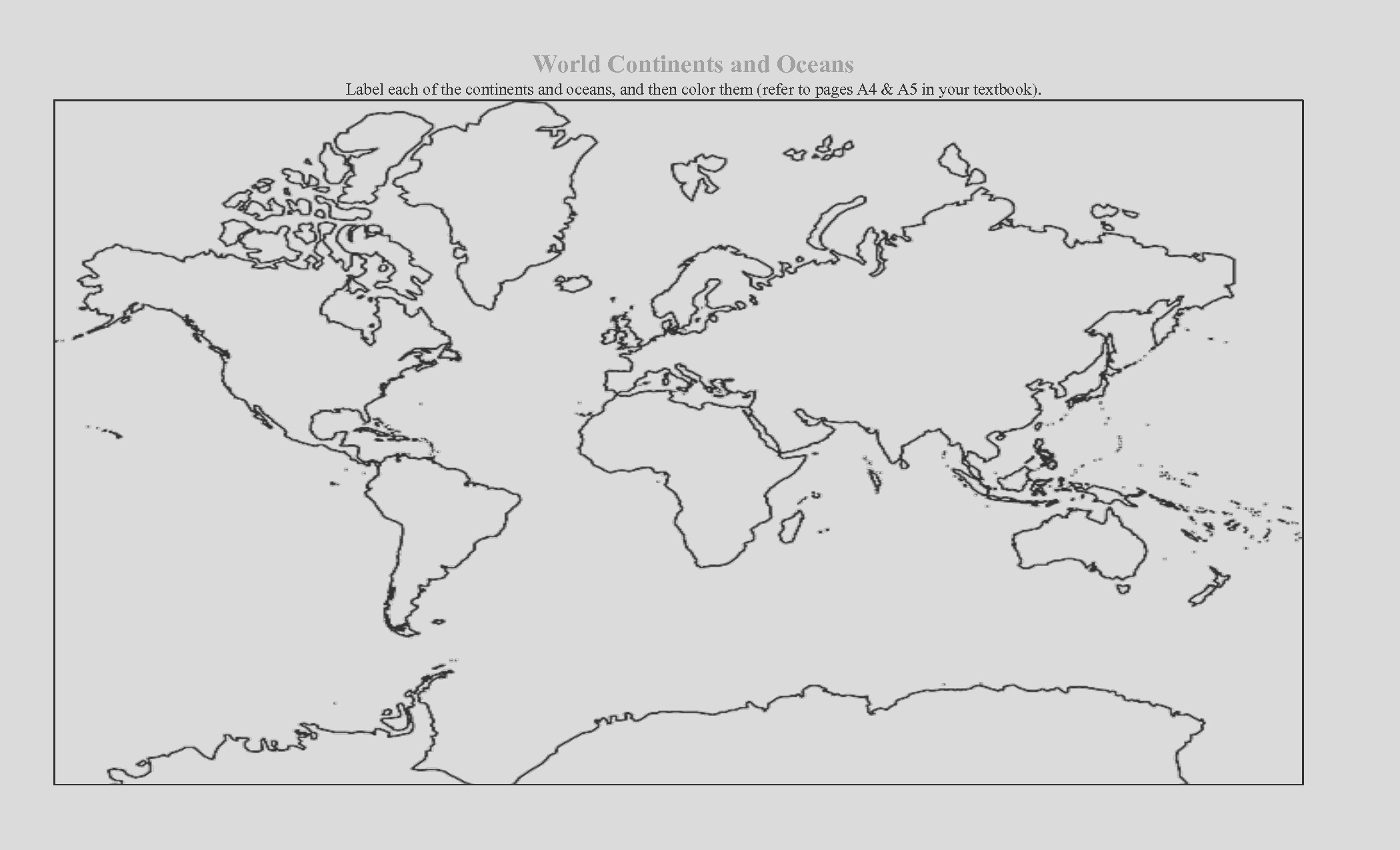 blank continent maps