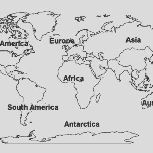 globe world map coloring page