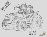 free tractor coloring