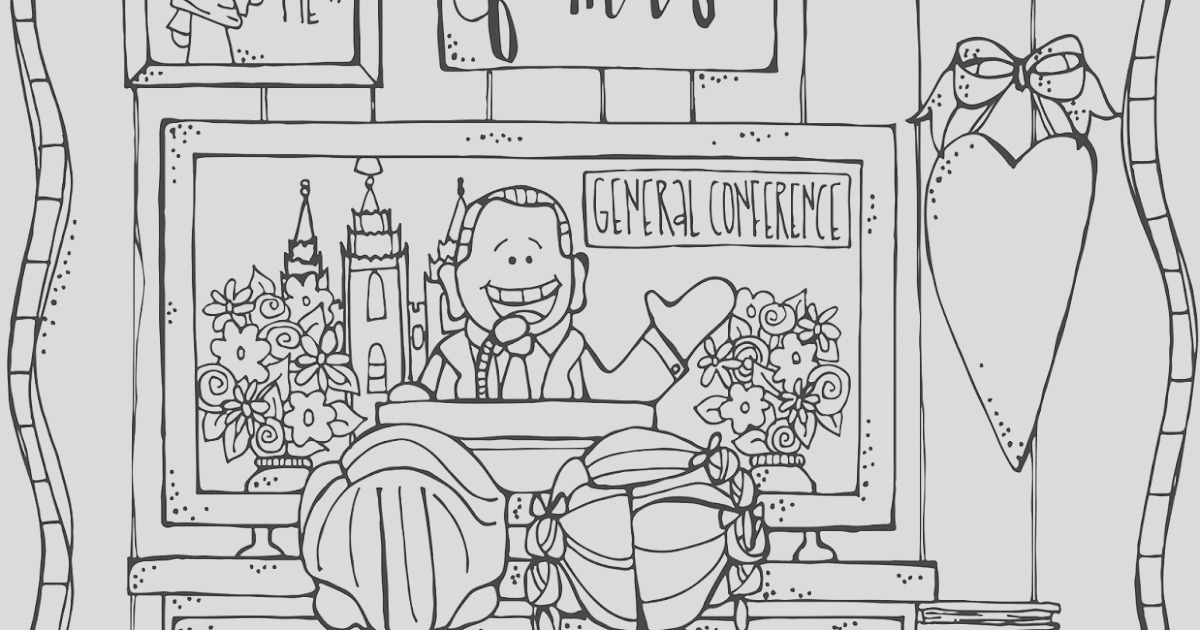 lds general conference coloring page