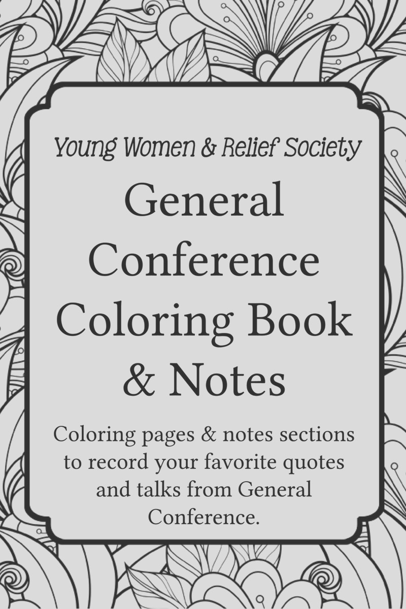 general conference coloring notes book