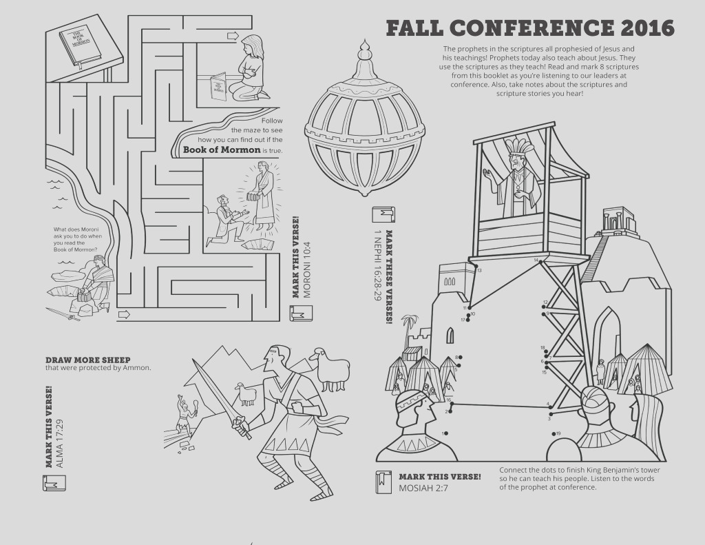 fall 2016 general conference coloring page