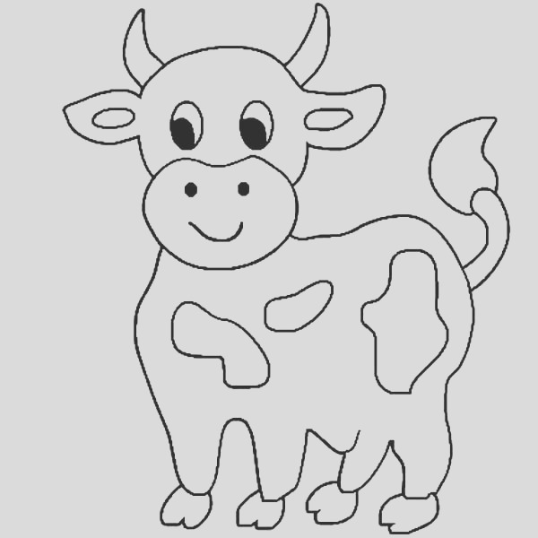 simple cow drawing