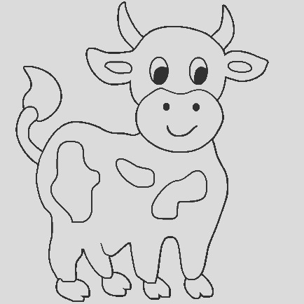 cute cow animal coloring books for kids