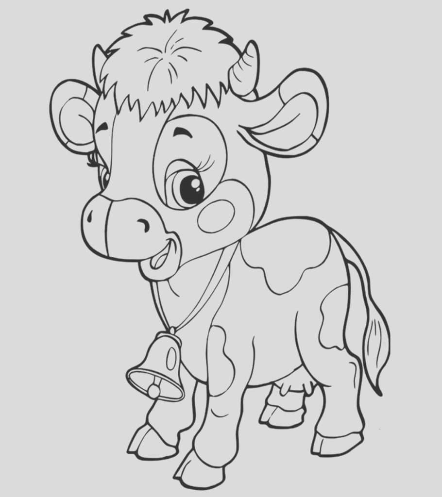 best cow coloring pages for your little ones