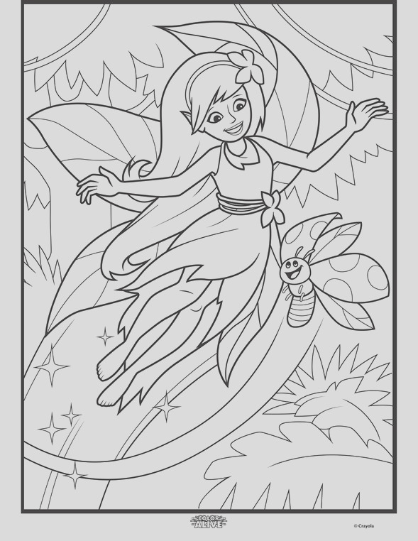 color alive enchanted forest coloring page