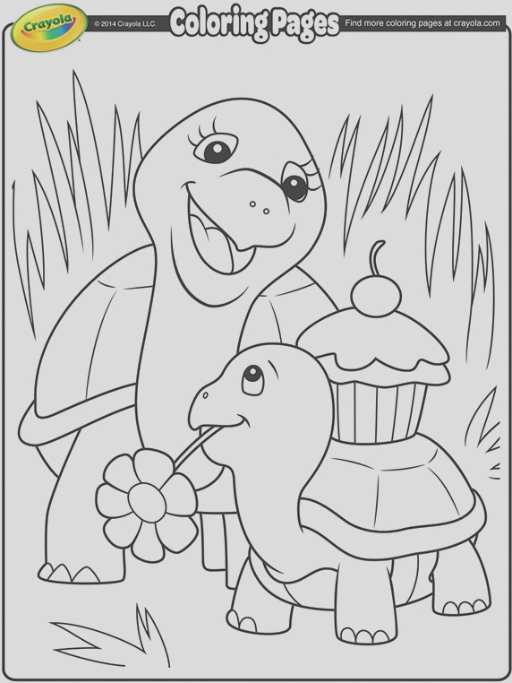 turtle mommy coloring page