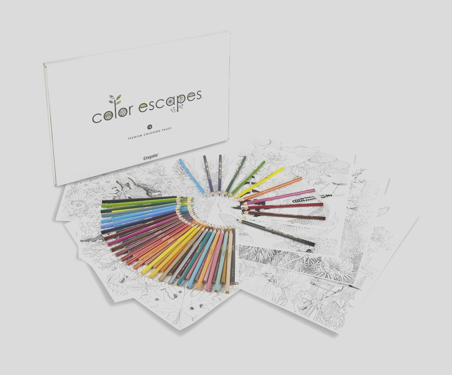 crayola color escapes adult coloring books coloring page pencil kit
