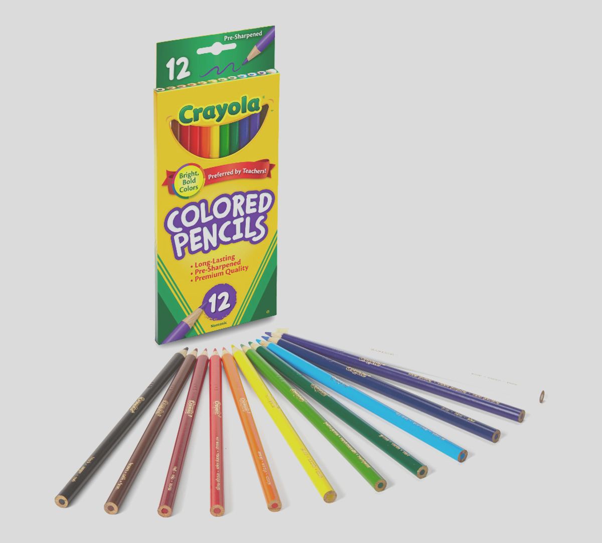 colored pencils long 12 count
