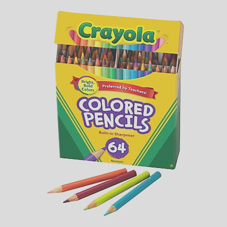 Crayola Colored Pencils 64 Count Vibrant Colors Presharpened Art Tools Great for Adult Coloring ap B NZWC