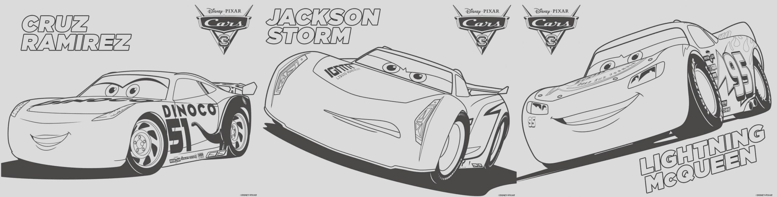 cars 3 coloring printable games