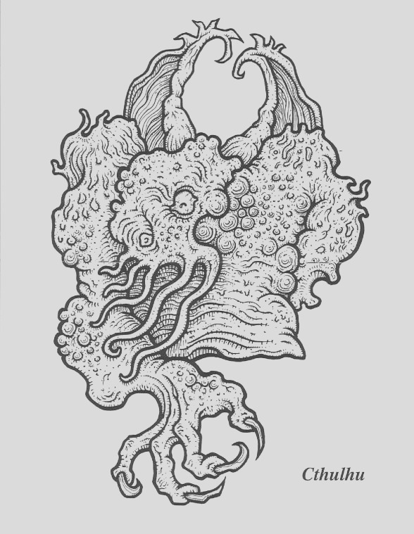 cthulhu coloring book printable sketch templates