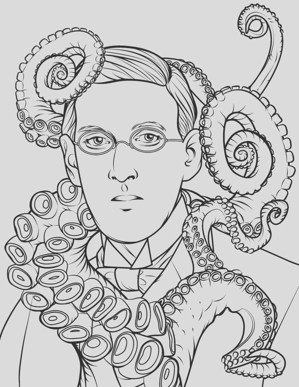 hp lovecraft coloring dot to dot