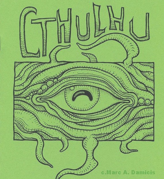 cthulhu coloring book monster art zine