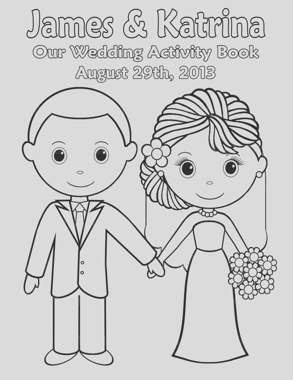 printable personalized wedding coloring