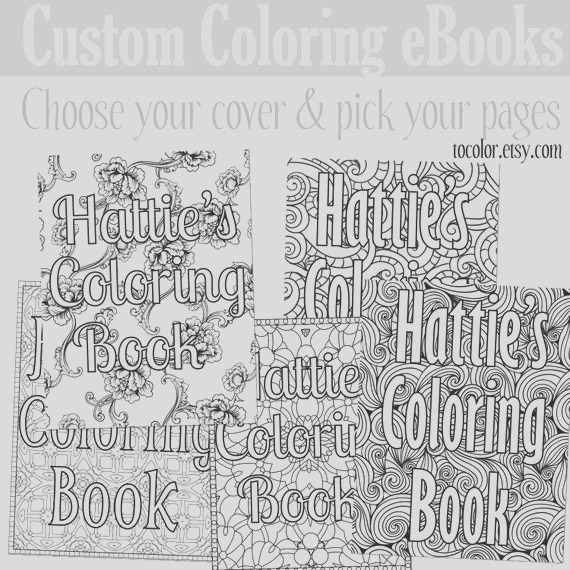 custom coloring ebook coloring pages