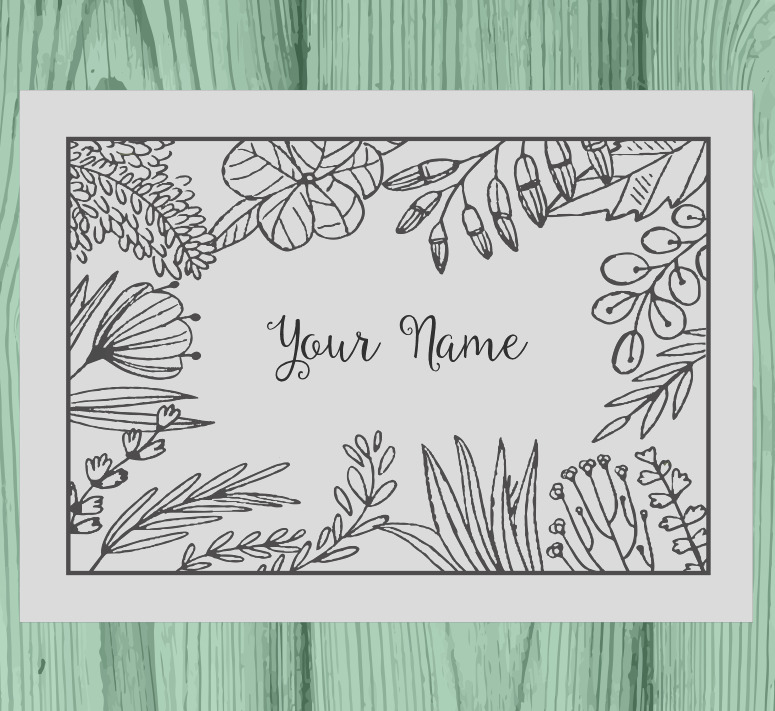 personalized coloring notecards