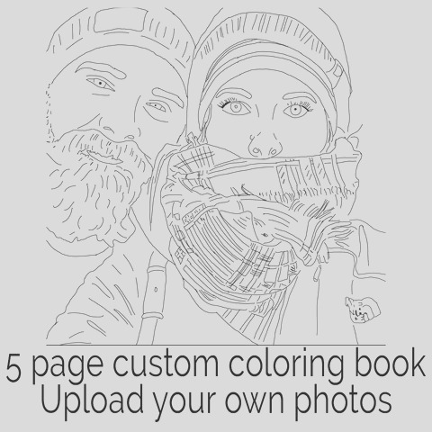 color me book a custom coloring book made from your favorite personal photos