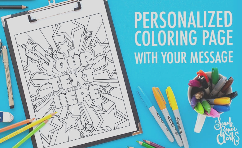 customized coloring page cbp001