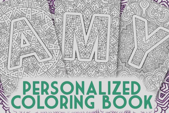 personalized coloring book made from the