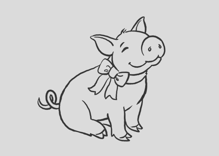 cute pig coloring pages i57cm