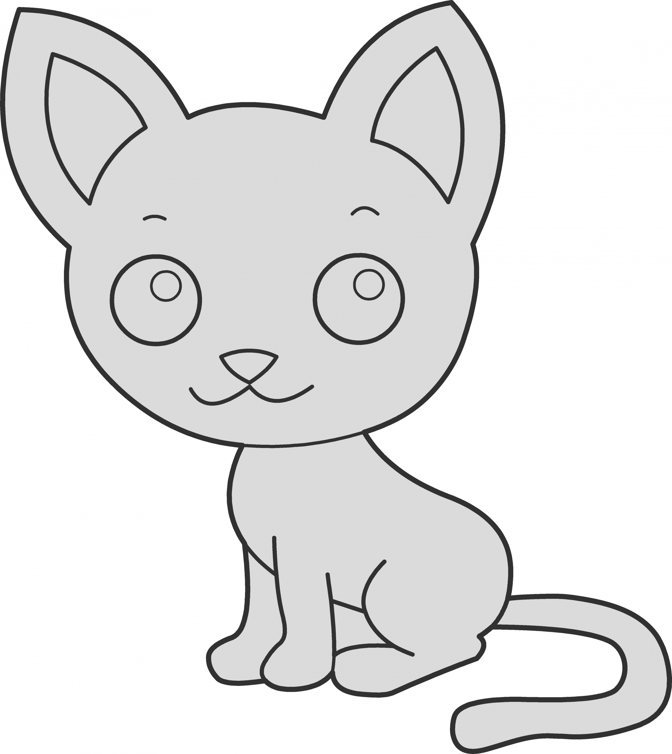 cute anime chibi cat girls coloring page