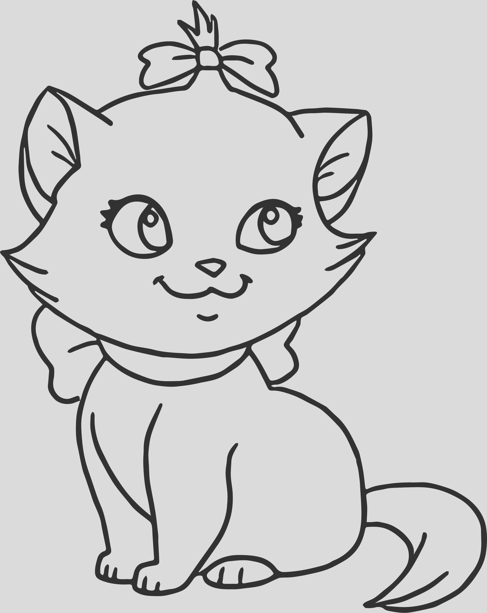 cute cat disney aristocats coloring page